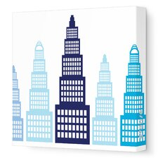 Imaginations Skyscraper Stretched Canvas Art