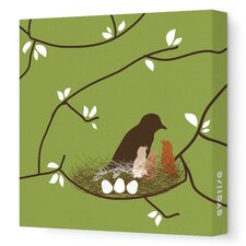 Imagination - Bird Nest Stretched Wall Art