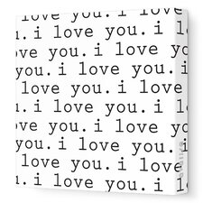 <strong>Avalisa</strong> Imagination - 'I Love You' Stretched Wall Art
