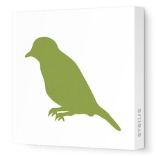 Silhouette - Bird Stretched Wall Art