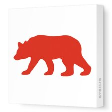 Silhouette - Bear Stretched Wall Art