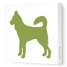 Silhouette - Dog Stretched Wall Art