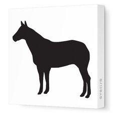 Silhouette - Horse Stretched Wall Art