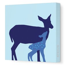 Animals Doe Stretched Canvas Art