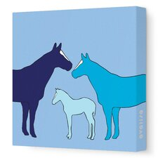 Animals Herd Stretched Canvas Art