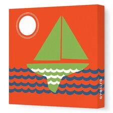 Things That Go - Sailing Stretched Wall Art