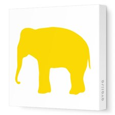 Silhouette - Elephant Stretched Wall Art
