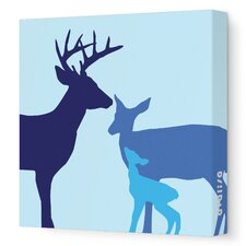 Animals Deer Stretched Canvas Art