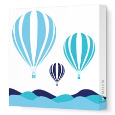 Things That Go Hot Air Balloons Stretched Canvas Art