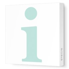 Letters Lower Case 'i' Stretched Canvas Art
