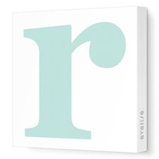 Letters Lower Case 'r' Stretched Canvas Art