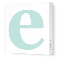 Letters Lower Case 'e' Stretched Canvas Art