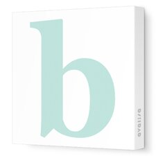 Letter - Lower Case 'b'  Stretched Wall Art