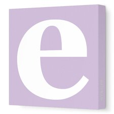 Letter - Lower Case 'e' Stretched Wall Art