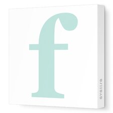 Letter - Lower Case 'f' Stretched Wall Art