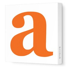 Letters Lower Case 'a' Stretched Canvas Art