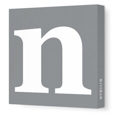 Letter - Lower Case 'n' Stretched Wall Art