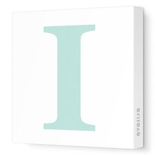 Letters Upper Case 'I' Stretched Canvas Art