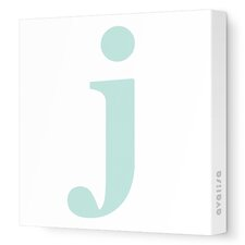 Letters Lower Case 'j' Stretched Canvas Art