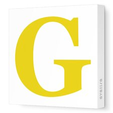 Letter - Upper Case 'G' Stretched Wall Art