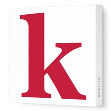 Letters Lower Case 'k' Stretched Canvas Art