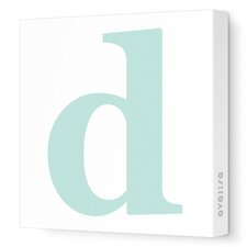 Letters Lower Case 'd' Stretched Canvas Art
