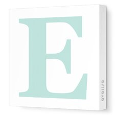 Letters Upper Case 'E' Stretched Canvas Art