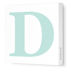 Letters Upper Case 'D' Stretched Canvas Art
