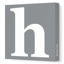 Letter - Lower Case 'h' Stretched Wall Art
