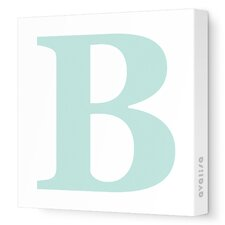Letters Upper Case 'B' Stretched Canvas Art