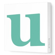 Letters Lower Case 'u' Stretched Canvas Art
