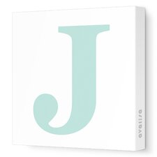 Letters Upper Case 'J' Stretched Canvas Art