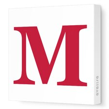 Letters Upper Case 'M' Stretched Canvas Art