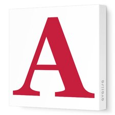 Letters Upper Case 'A' Stretched Canvas Art