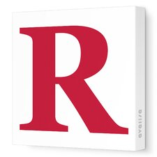 Letters Upper Case 'R' Stretched Canvas Art