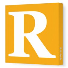 Letter - Upper Case 'R' Stretched Wall Art