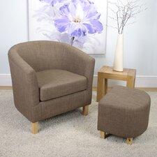 Tub Chair and Stool Set