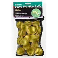 18 Yellow Foam Balls In Mesh Bag