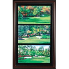 "<strong>Golf Gifts & Gallery</strong> ""Augusta Amen Corner"" Canvas Framed Art"
