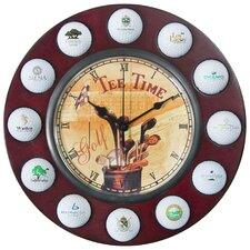 "11.75"" Tee Time Wall Clock"