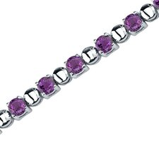 Elegant Style Round Shaped Gemstone Bracelet in Sterling Silver