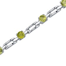 <strong>Oravo</strong> Gorgeous and Chic Round Shaped Gemstone Bracelet in Sterling Silver