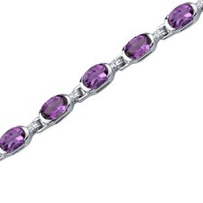 Exceptionally Stunning Oval Shaped Gemstone Bracelet in Sterling Silver
