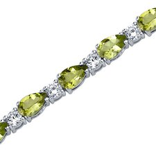 <strong>Oravo</strong> Perfect Allure Pear Shape Gemstone Bracelet in Sterling Silver