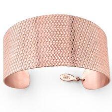Crosscut Pattern Stainless Steel Cuff Bracelet