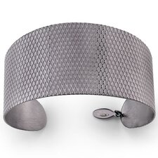 Crosscut Pattern Stainless Steel Cuff Bracelet