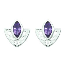 1.00 Ct.T.W. Genuine Marquise Cut Earrings in Sterling Silver