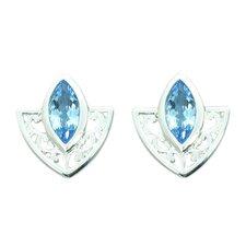 1.50 Ct.T.W. Genuine Marquise Cut Swiss Blue Topaz Earrings in Sterling Silver