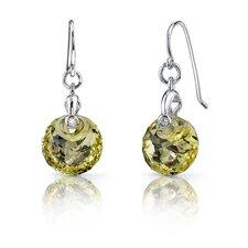 Spherical Cut Alexandrite Fishhook Earrings Sterling Silver