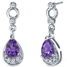 Simply Classy Gemstone Dangle Earrings in Sterling Silver